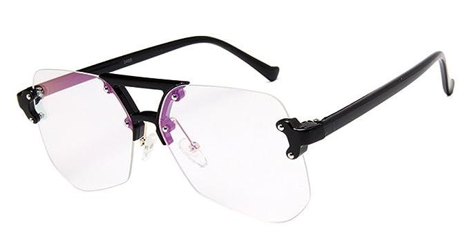 DAUCO Gafas de sol de marco irregularidad de metal Gafas de ...