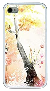 Drawings Of Autumn pc White Case for iphone 4S/4