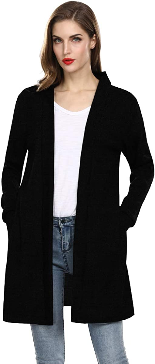 Women Long Sleeve Loose Casual Sweater Cardigan Straight Plus Size Dresses Pocket Cardigans for Women
