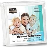 Utopia Bedding Waterproof Zippered Mattress Encasement Cover - Bed Bug Proof, Vinyl Safe and Hypoallergenic Protection (Queen)