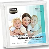 Utopia Bedding Waterproof Zippered Mattress Encasement Cover -...