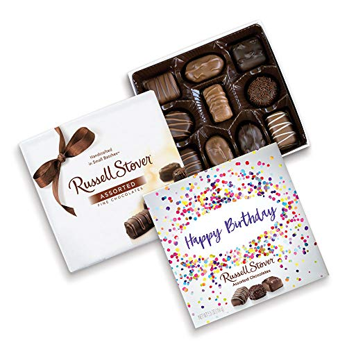 - Russell Stover Happy Birthday Assorted Choc Square Box, 5.5 Ounce