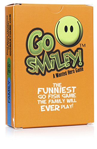 Go Smiley: Go Fish w/ Funny Faces! Kid Card Game for the Family. Adults & Teens Will Join in on the Party, Playing With The Toddlers. Classic Toddler Games with a Twist. Cards Set for Preschool Kids.]()