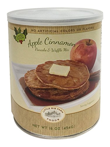 Little Big Farm Foods Cinnamon Apple Pancake and Waffle (Apple Pancake Breakfast)