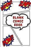 Blank Comic Book: 6 x 9 Blank Comic Book, Over