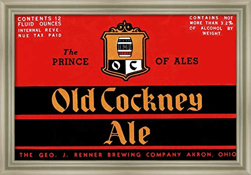 - Framed Canvas Wall Art Print | Home Wall Decor Canvas Art | Old Cockney Ale by Vintage Booze Labels | Modern Decor | Stretched Canvas Prints