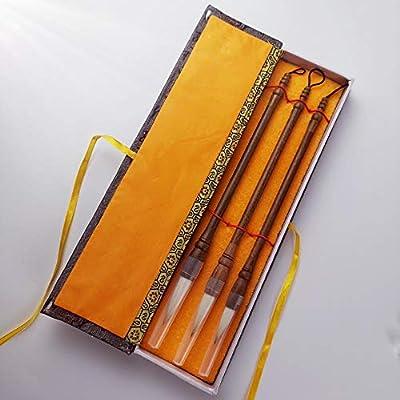 Juego de 3 pinceles chinos para pintura de caligrafía, caja de ...