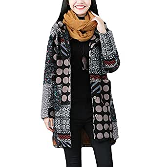 Amazon.com: vermers Women Winter Warm Vintage Hooded Coat Clearance Womens Casual Long Sleeve