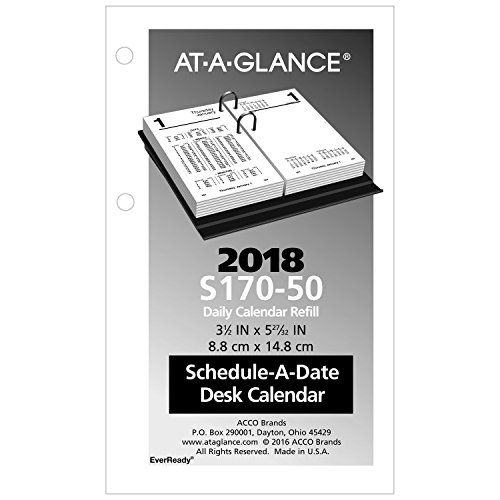 AT-A-GLANCE Desk Calendar Refill 2018(S17050-18)