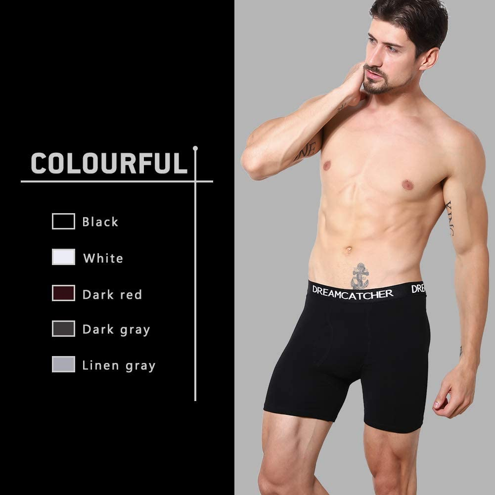 5Mayi Mens Boxer Briefs Fly Front with Pouch Athletic Mens Underwear Performance Boxer Briefs for Men Pack