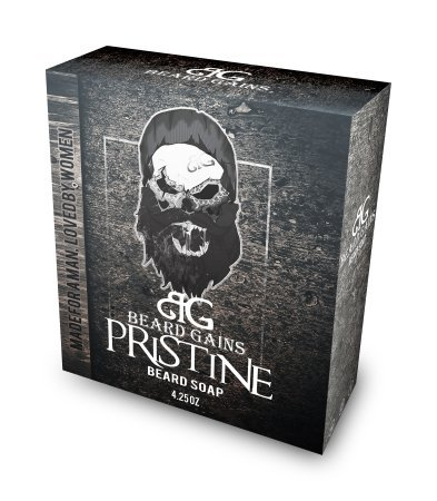 Beard Gains - Original Scented Exclusive Pristine Beard Soap Conditioner   Ultimate Beard Healer & Wash! Paraben & Sulfate Free!