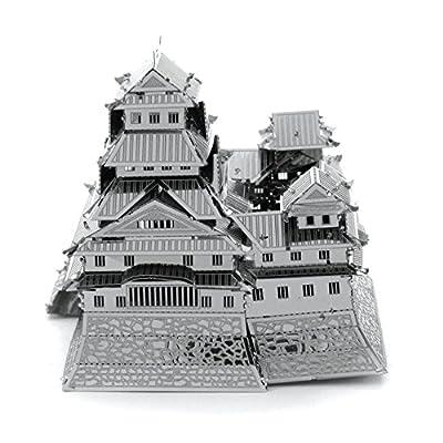 Metal Earth Fascinations Kinkaku Ji Gold E Himeji Castle Original Puzzle In Metallo 3d Giocattoli Da Costruzione Modelli Di Taglio Laser