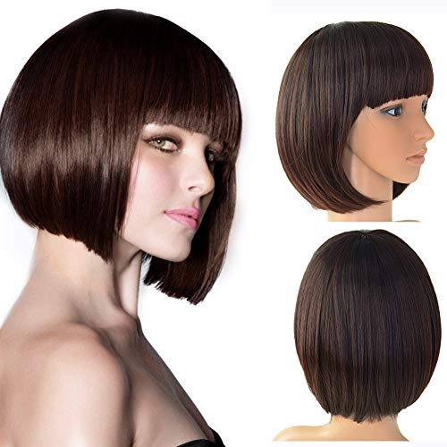 Beauty Angelbella Short Bob Hair Wigs Synthetic Cosplay