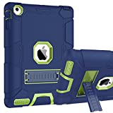 ipad cover for kids - iPad 4 Case, iPad 2 Case, iPad 3 Case, BENTOBEN Kickstand Full-body 3 IN 1 Soft&Hard Protective Heavy Duty Rugged Shockproof Drop Resistance Anti-slip Cover for Apple iPad 2/3/4 Retina,Navy Blue/Green