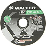 Walter ZIP Alu Fast and Free Cutoff Wheel, Type 1, Round Hole, Aluminum Oxide, 4-1/2'' Diameter, 3/64'' Thick, 7/8'' Arbor, Grit A-60-ZIP-ALU (Pack of 25)
