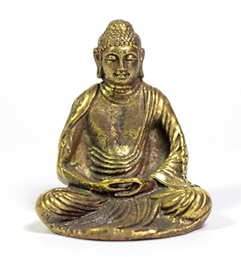 Brass Meditating Sitting chinese buddha  - Figures Chinese Porcelain Shopping Results