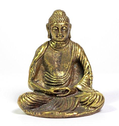 Brass Meditating Sitting chinese buddha statue - Speak Indonesia