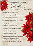 Grave Card - In Memory Of A Special Mum, With Love at Christmas - Free Card Holder - C103