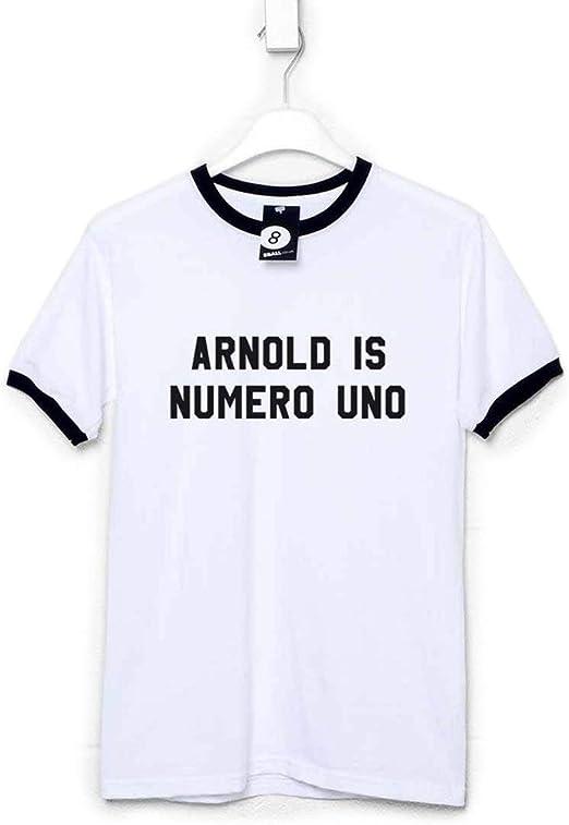 Arnold is Numero Uno T-Shirt Arnie Schwarzenneger Pumping Iron Gym Fitness Top