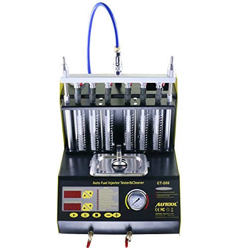 AUTOOL CT-200 Automotive 6 Cylinder Ultrasonic Wave Fuel Injector Cleaner and Tester Automotive Fuel Cleaning Tools 110V/220V by AUTOOL (Image #1)
