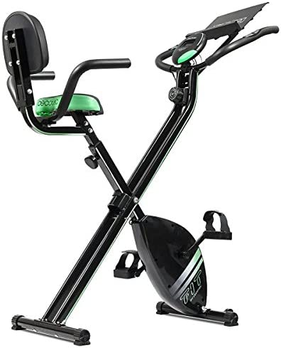 TSC - Bicicleta estática magnética plegable con atril para pantalla LCD, con pulsómetro y función Scan: Amazon.es: Deportes y aire libre