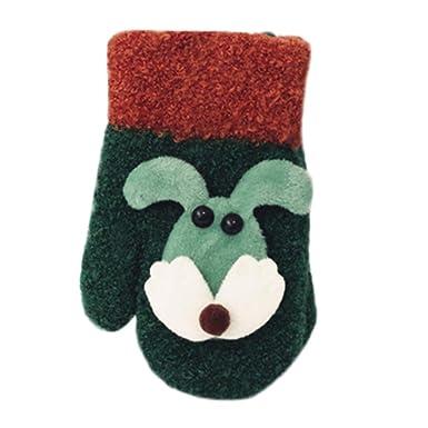 HEETEY Toddler Baby Gloves Unisex Kids Cute Thicken Striped Hot Girls Boys Of Winter Warm Gloves Kids Knit Gloves Accessorize Gifts Baby Gloves