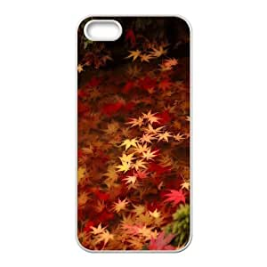 SOPHIA Phone Case Of Maple leaves Fashion Style Colorful Painted for Iphone 5 5g 5s
