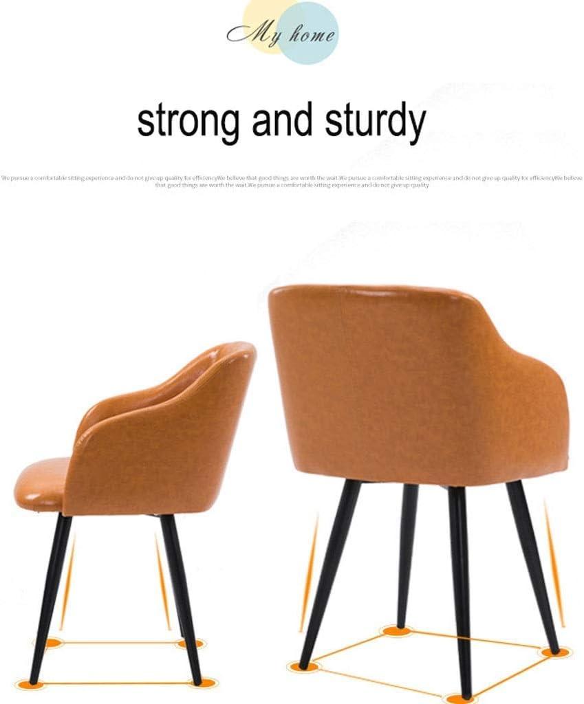 YUMUO Chaises de Salle à Manger Fauteuils Vintage en Velours Chaises d'appoint pour Cuisine de Salon, avec Pieds de Chaise en métal (Couleur: Blanc) 4
