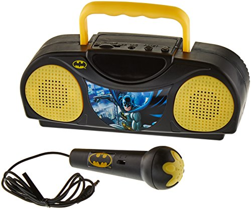 dc-comics-warner-brothers-radio-karaoke-portable-radio-with-microphone