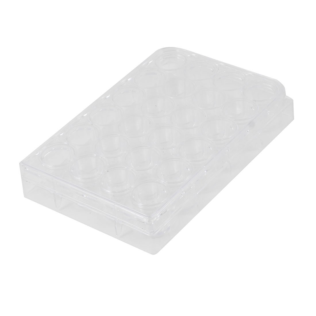 Sourcingmap Clear Plastic Rectangle Shape 24 Compartments Cell Culture Plate a13032300ux0097