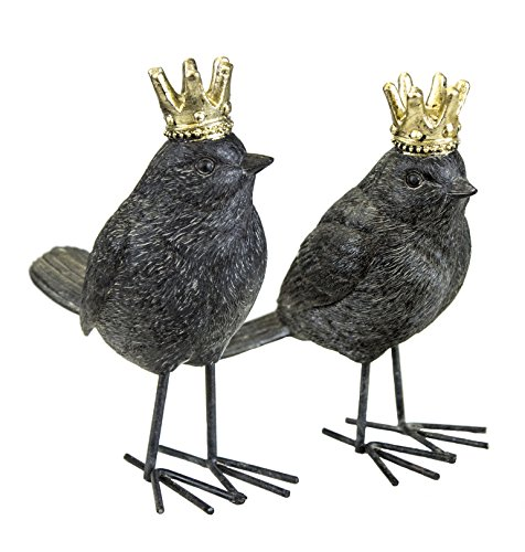 Cheap Sagebrook Home AR10431-05 Birds W/ Crowns, Rust Polyresin, 4.75 x 2.5 x 5.75 Inches