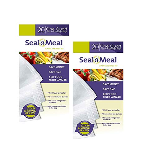 Seal-A-Meal quart size bags (40-pack)