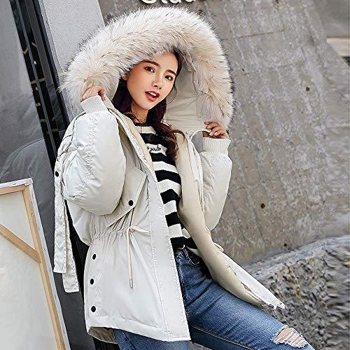 M Capuche coloré En À Blanc Taille Coton Oudan D'hiver Manteau Marron RxCqwWH4