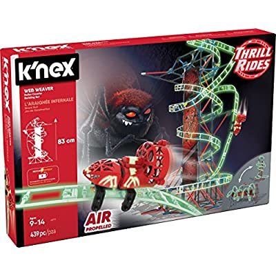 K'NEX Thrill Rides – Web Weaver Roller Coaster Building Set – 439 Pieces – Ages 9 and Up – Construction Educational Toy: Toys & Games