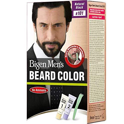 - Bigen Men's Beard Color - Aloe Extract & Olive Oil - Natural Black - Pack of 2