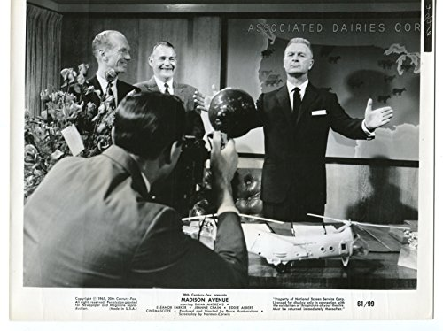 (MOVIE PHOTO: Madison Avenue-Eddie Albert-Camera-8x10-B&W-Still-VG)