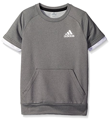 adidas Big Boys' Performance Short Sleeve Tee, Black/White, Small/8 by adidas