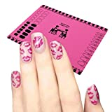LUQUAN Silicone Workspace Stamping Plate Washable Mat Table Transfer Tools For Nail Art (Pink)