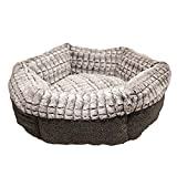 Rosewood 40 Winks Tweed/Plush Bed, 19 Inch