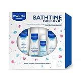 Mustela Bathtime Essentials Gift Set, Gentle Baby Bath Products, 4 Items