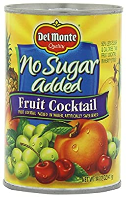 Del Monte No Sugar Added (Artificially Sweetened) Fruit Cocktail (3 Pack) 14.5 oz Cans