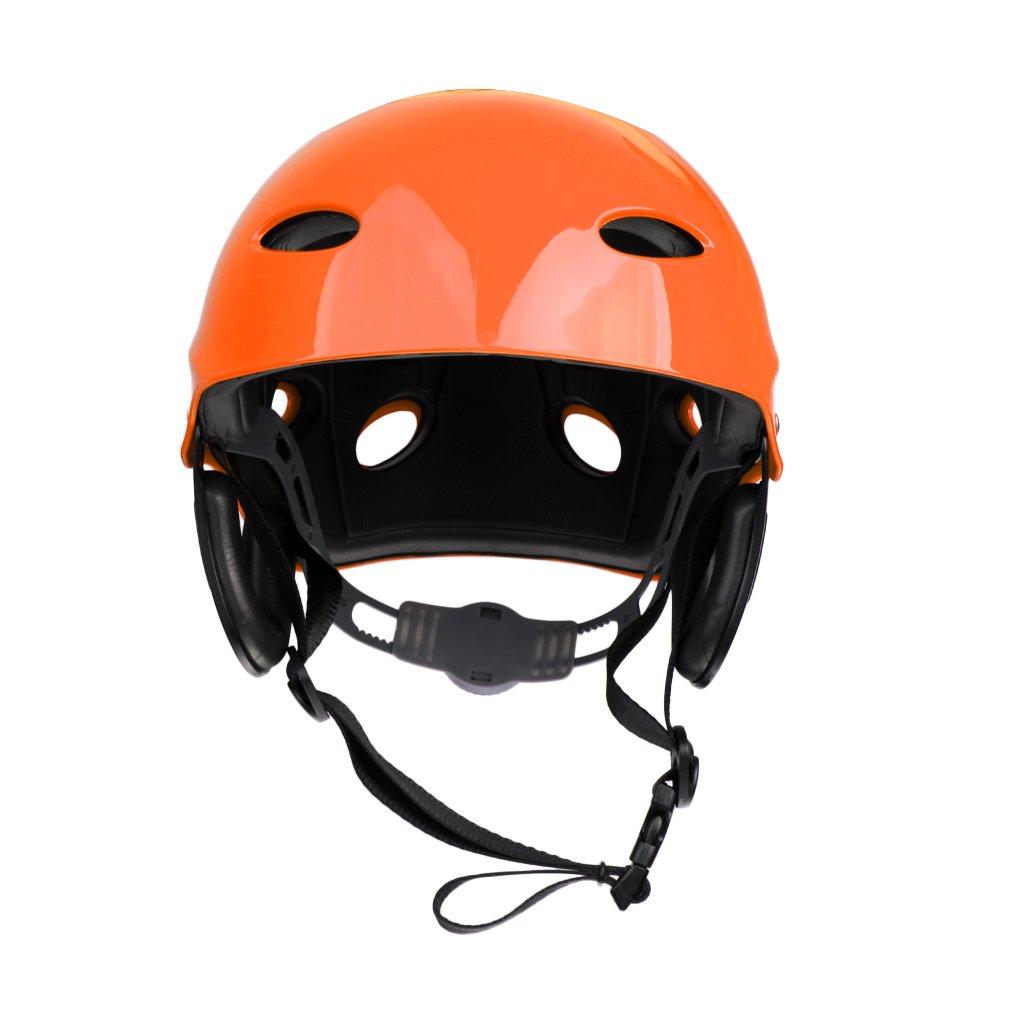 perfk Casco De Seguridad Profesional del Casco De Seguridad De Los Deportes Acuáticos para Sup Kayaking Canotaje De Navegación del Canotaje Kitesurfing Padd - Rojo