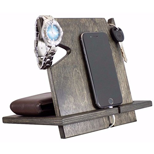 Wood Phone Docking Station, for Husband, 5th, Graduation Gifts for Him, Gifts for Boyfriend, Gifts for Men, Compatible with All Phone Models