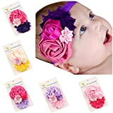 ROEWELL® Baby's Headbands /Girl's Hair bows/ Hairband Combination Flower (5 Pieces)