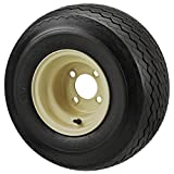18x8.50-8 TL Double Eagle Tire on 8x7 4-lug Club Car Beige Steel Wheel - Set of 4