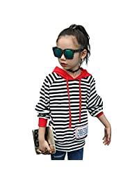 MV Autumn Children Casual Striped Sweatshirt Hooded Sweater Kids Hoodies Clothing