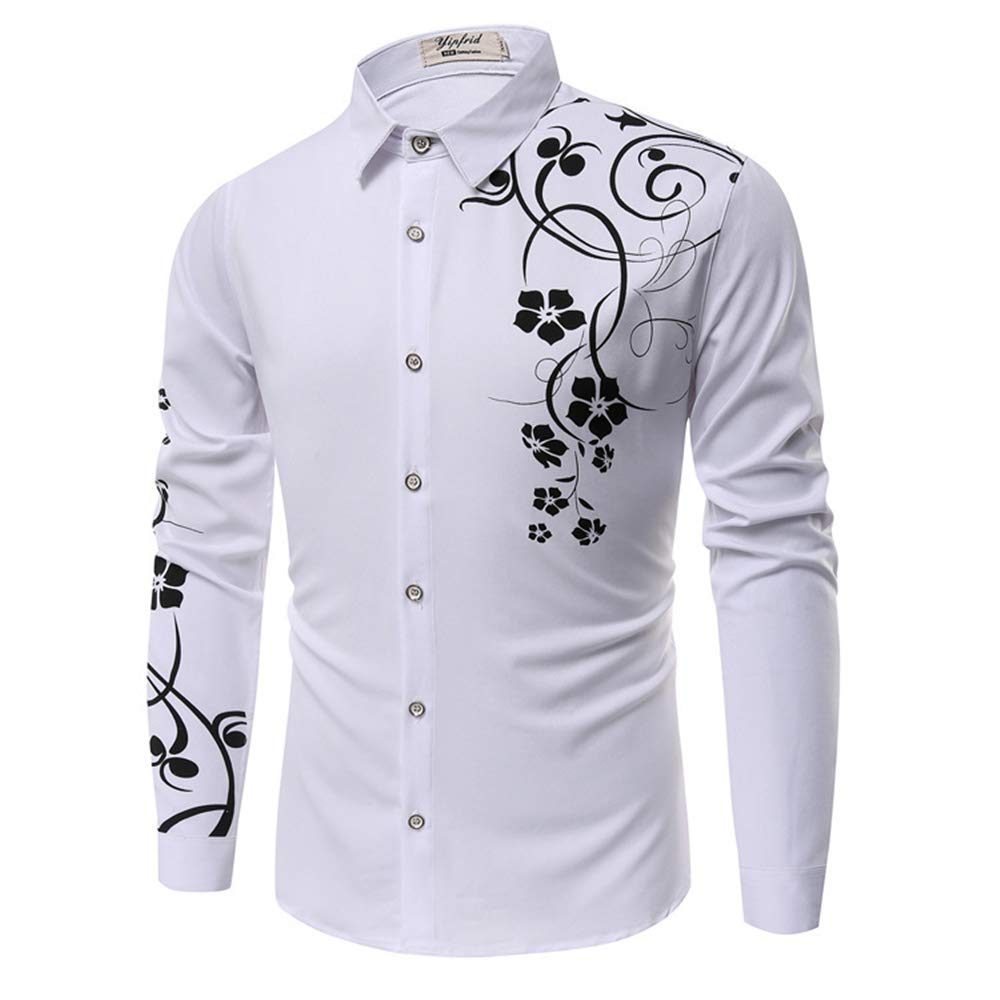 TOP Fighting Mens Dress Shirts Regular Fit Long Sleeve Men Shirt ( White//XXXX-Large