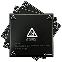 """Zonyee 3D Printing Build Surface, 3D Printer Heat Bed Platform Sticker 8.42"""" x 8.42"""" Square, Black from Zonyee"""