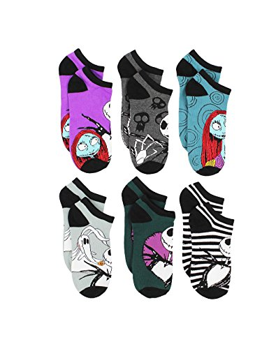 The Nightmare Before Christmas Womens 6 pack Socks (9-11 Womens (Shoe: 4-10), Purple) by Disney (Image #1)