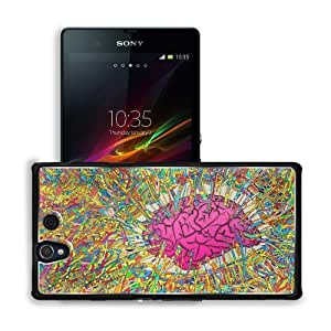 Brain Imagination Colors Information Matei Sony Xperia Z 5.0 C6603 C6602 Snap Cover Premium Aluminium Design Back Plate Case Customized Made to Order Support Ready 5 4/8 inch (140mm) x 2 7/8 inch (73mm) x 7/16 inch (11mm) MSD Sony Xperia Z cover Professio